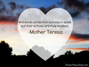 Kindness Mother Theresa